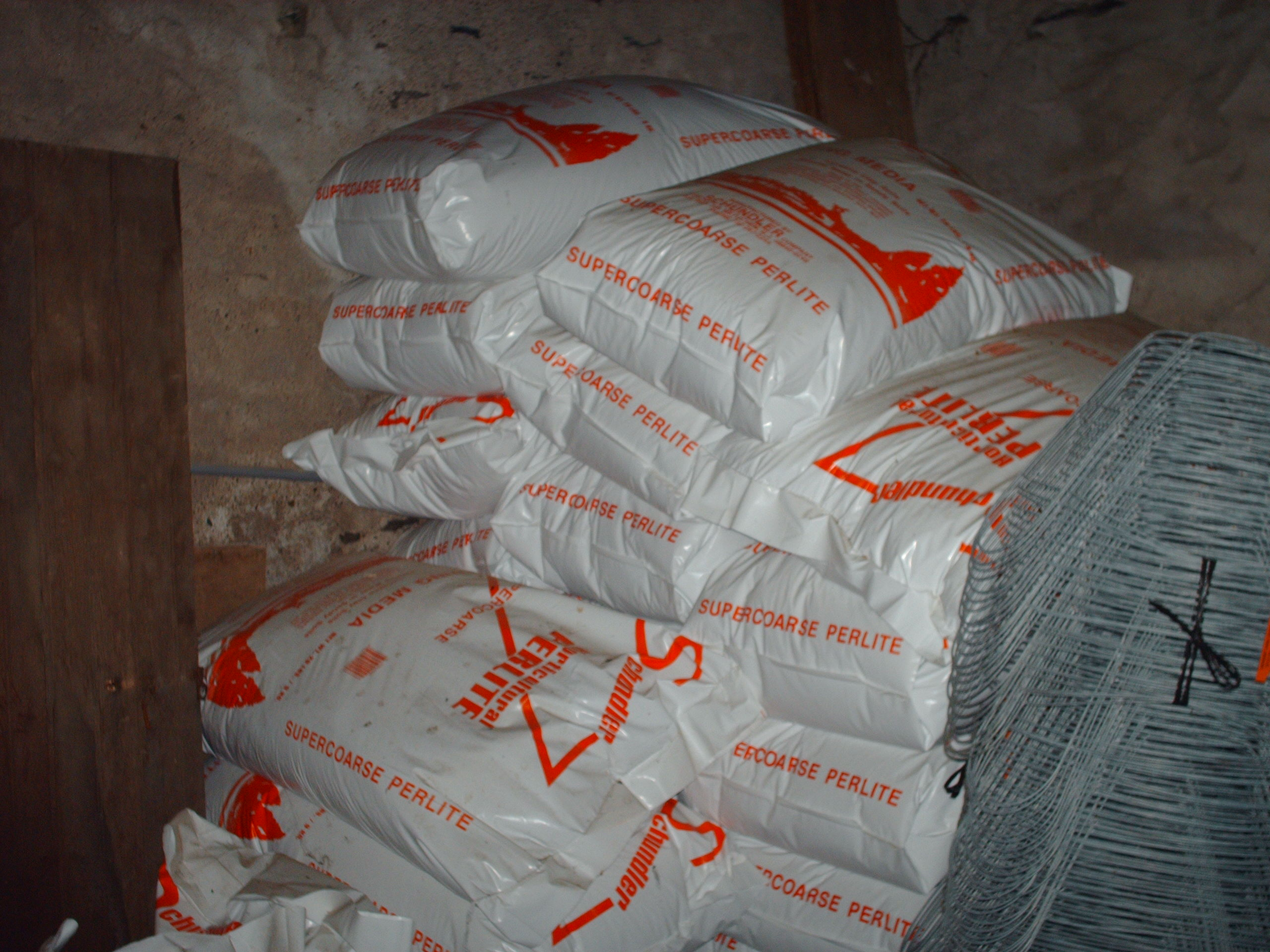 We stock bags of perlite for potting mixes